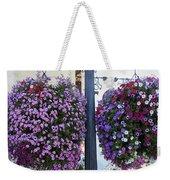 Flowers In Balance Weekender Tote Bag by Mae Wertz