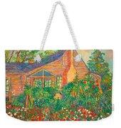 Flowery Backyard Weekender Tote Bag
