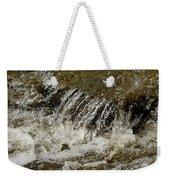 Flowing Water Over Rocks Weekender Tote Bag