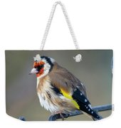 Fluffy Goldfinch Weekender Tote Bag
