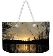 Flying Through A Sunset Weekender Tote Bag