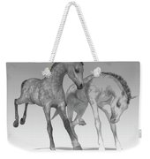 Foals Black And White Bleached Weekender Tote Bag