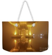 Foggy Bridge Weekender Tote Bag by Tom Claud