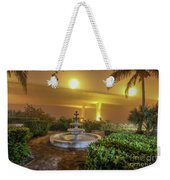 Foggy Fountain And Bridge Weekender Tote Bag by Tom Claud