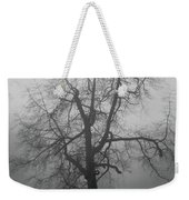 Foggy Tree In Black And White Weekender Tote Bag by William Selander