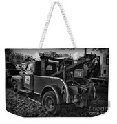 Ford F4 Tow The Truck Business End Black And White Weekender Tote Bag