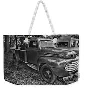 Ford F4 Tow The Truck Hook And Book Black And White Weekender Tote Bag