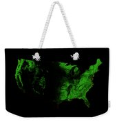 Forest Cover Map Of The Us Weekender Tote Bag