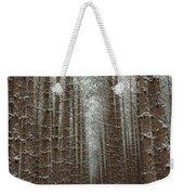 Forest In Sleeping Bear Dunes In January Weekender Tote Bag