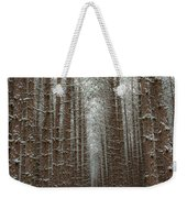 Forest In Sleeping Bear Dunes In January Weekender Tote Bag