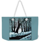 Forest Misty Dawn In Late Fall Weekender Tote Bag