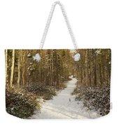 Forest Track In Winter Weekender Tote Bag