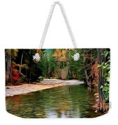 Forest With River Weekender Tote Bag