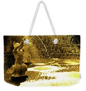 Forsyth Park Tritons In A Cascade Of Gold Weekender Tote Bag