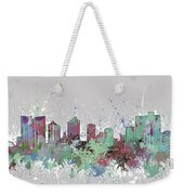 Fort Worth Skyline Artistic Pastel Weekender Tote Bag