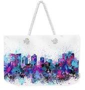 Fort Worth Skyline Color Splatter Weekender Tote Bag