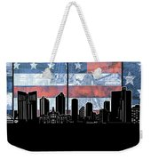 Fort Worth Skyline Flag 3 Weekender Tote Bag