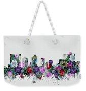 Fort Worth Skyline Floral 2 Weekender Tote Bag