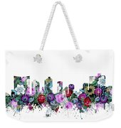 Fort Worth Skyline Floral Weekender Tote Bag