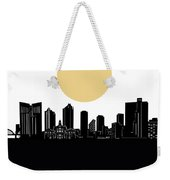 Fort Worth Skyline Minimalism Weekender Tote Bag