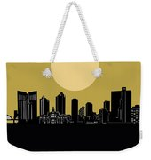 Fort Worth Skyline Minimalism Yellow Weekender Tote Bag