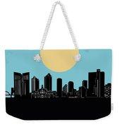 Fort Worth Skyline Minimalsim Blue Weekender Tote Bag