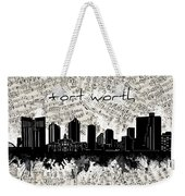 Fort Worth Skyline Music Sheet Weekender Tote Bag