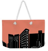 Fort Worth Skyline Panorama Red Weekender Tote Bag