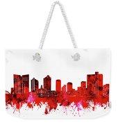 Fort Worth Skyline Red Weekender Tote Bag