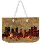 Fort Worth Skyline Vintage 2 Weekender Tote Bag