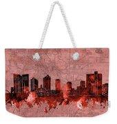 Fort Worth Skyline Vintage Red Weekender Tote Bag