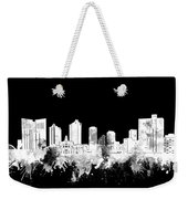 Fort Worth Skyline Watercolor Black And White 2 Weekender Tote Bag