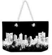 Fort Worth Skyline Watercolor Black And White 2 Weekender Tote Bag