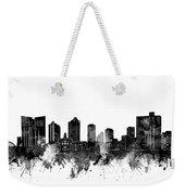Fort Worth Skyline Watercolor Black And White Weekender Tote Bag