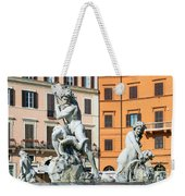 Fountain Of Neptune Weekender Tote Bag