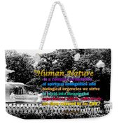 Fountain With Quote From Dreams Of The Immortal City Savannah Weekender Tote Bag