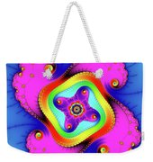 Fractal Art With Bold Colors Square Weekender Tote Bag
