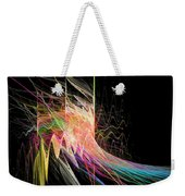 Fractal Beauty Deluxe Colorful Weekender Tote Bag by Don Northup