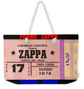 Frank Zappa 1980 Concert Ticket Weekender Tote Bag