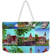 Frankenmuth Downtown Michigan Painting Collage II Weekender Tote Bag