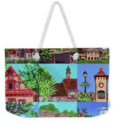 Frankenmuth Downtown Michigan Painting Collage V Weekender Tote Bag