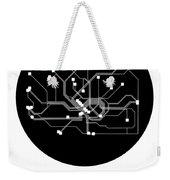 Frankfurt Black Subway Map Weekender Tote Bag