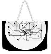 Frankfurt White Subway Map Weekender Tote Bag