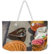 French Flea Market Pottery Weekender Tote Bag