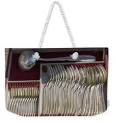 French Silver Weekender Tote Bag
