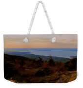 Frenchman's Bay From Cadillac Mountain Digital Photo Art Weekender Tote Bag