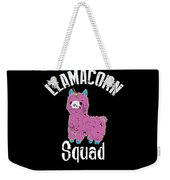 Funny Llamacorn Squad Unicorn Alpaca Lama Weekender Tote Bag