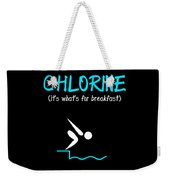 Funny Swimming Chlorine Its Whats For Breakfast Diving Weekender Tote Bag