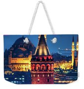 Galata Tower And Suleymaniye Mosque Weekender Tote Bag