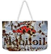 Gargoyle Mobiloil Vacuum Oil Co Rusty Sign Weekender Tote Bag